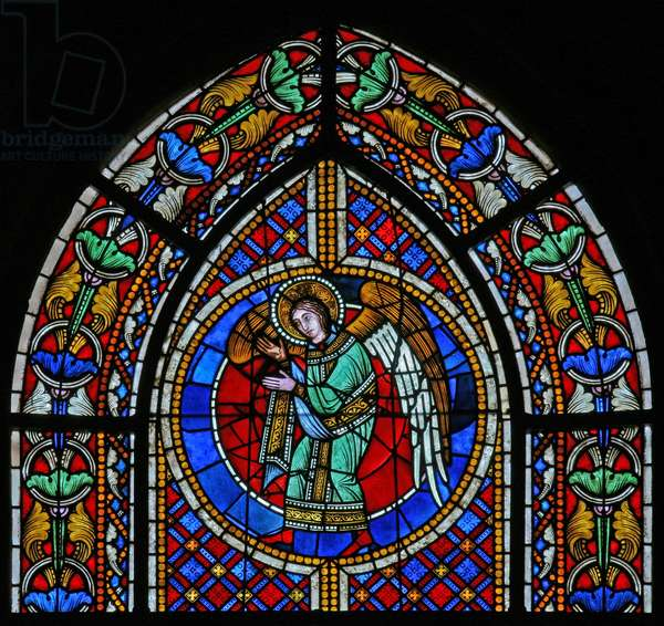 Window w3 depicting an angel (stained glass)