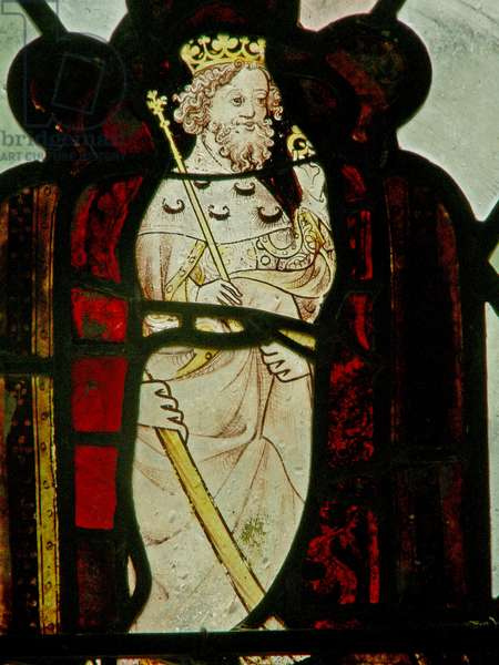 Window N4 depicting St Edward the Confessor (stained glass)