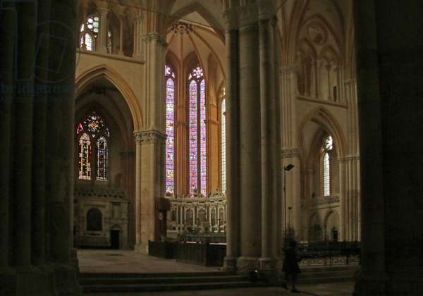 View of the Transept and the Est End (stained glass)