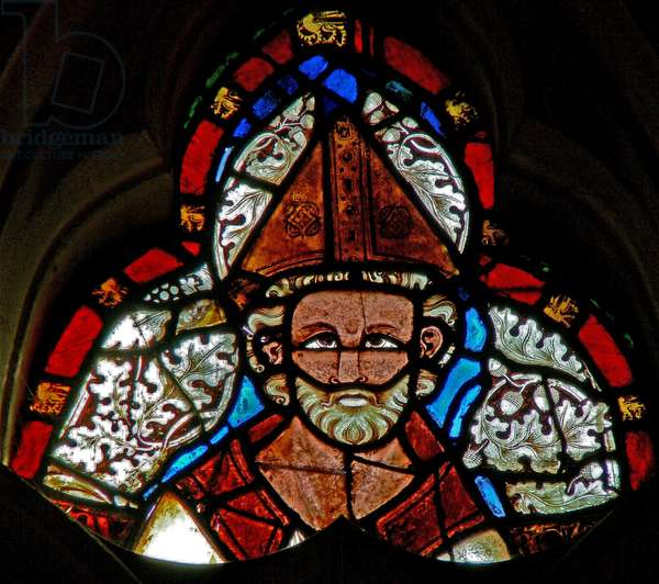 Window s-2 depicting St Dunstan (stained glass)