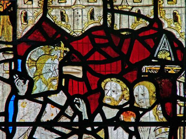 Window Ww depicting the Harrowing of Hell (stained glass)