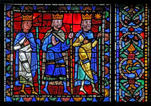 The Life of Christ window: the Magi depart (w50) (stained glass)