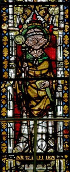 Window N3 depicting St Giles (stained glass)
