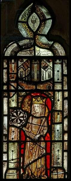 Window Ew depicting St Catherine (stained glass)