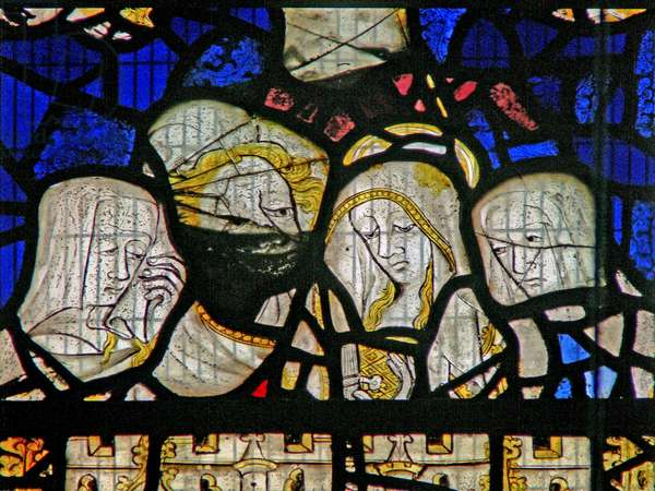 Window Ww depicting the Crucifixion (stained glass)