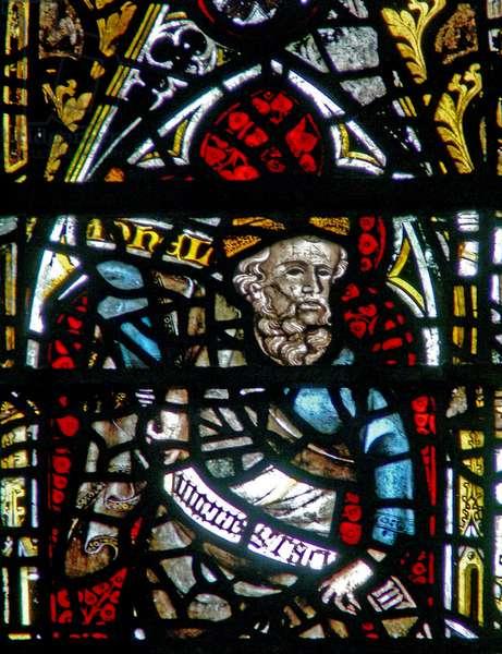 Window w3 depicting the Prophet Joel (stained glass)