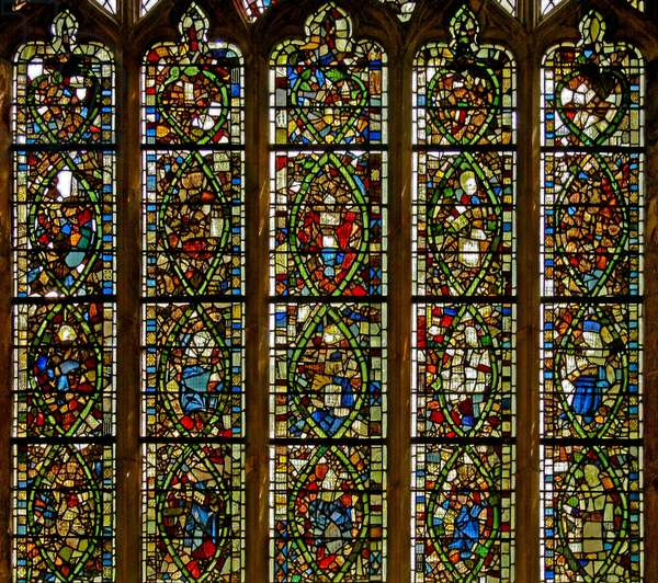 Window Ew depicting the Tree of Jesse (stained glass)