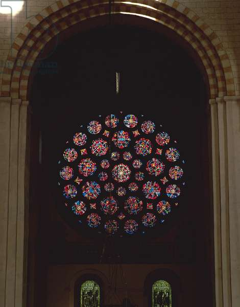 North rose window, 1989 (stained glass)