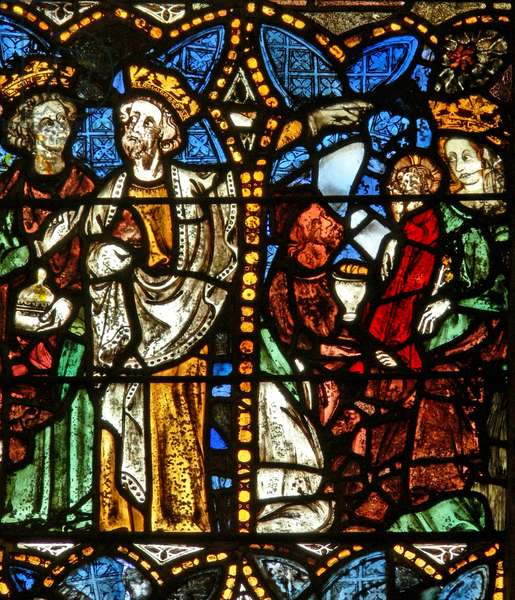 The east window depicting the Adoration of the Magi (stained glass)