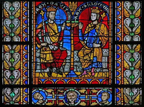 Window w5 depicting David and Solomon (stained glass)