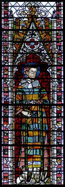 Window w2 depicting St Vincent (stained glass)