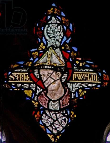 Window n-5 depicting Bishop Erkenwald (stained glass)