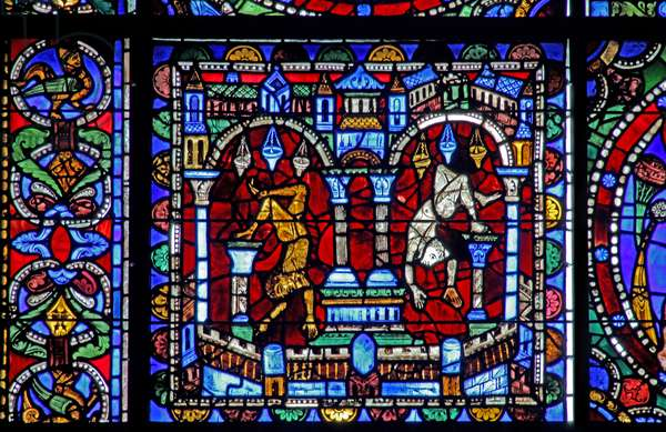 The Life of Christ window: Fall of the Idols (w50) (stained glass)