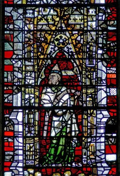 Window w3 depicting Malachi (stained glass)