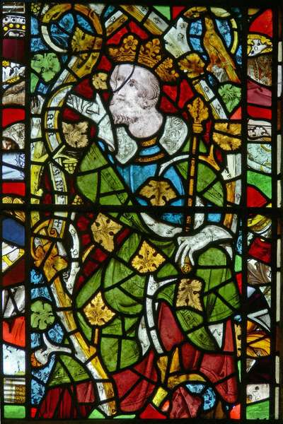 Window Ew depicting Asa on the Tree of Jesse (stained glass)
