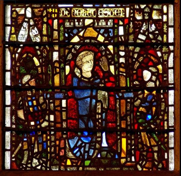 Window w42 depicting Peter de Dene (stained glass)