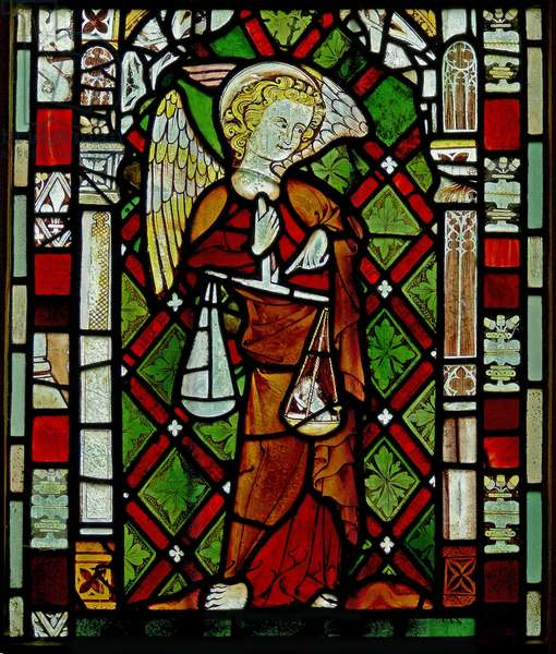 Window Ew depicting St Michael (stained glass)