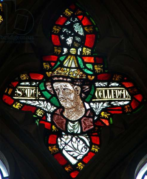 Window n-5 depicting Bishop Marcellus (stained glass)