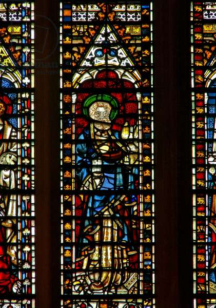 Window Ww depicting St Peter (stained glass)