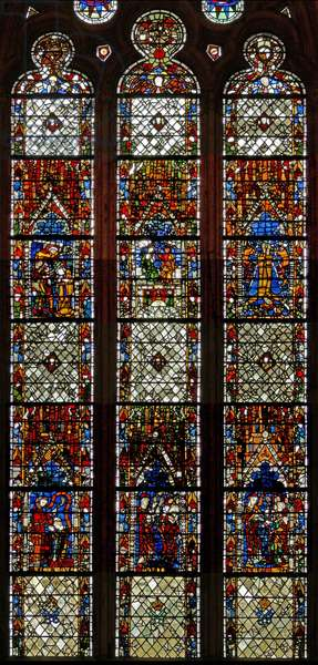 Window w38 depicting the Penance Window (stained glass)