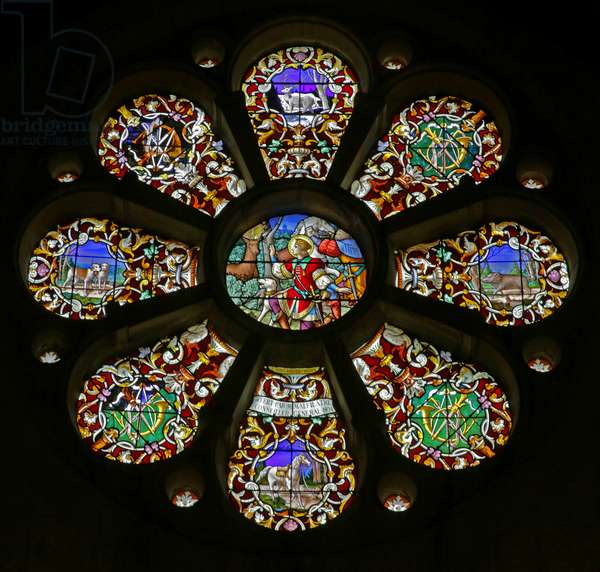 The Rose window (stained glass)
