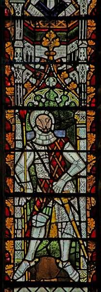 Window n4 depicting Gilbert III de Clare (stained glass)