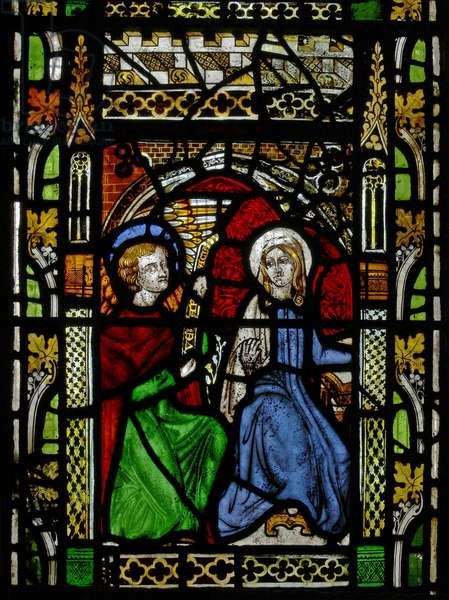Window N2 depicting the Annunciation (stained glass)