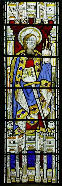 St Barbara (Modern by David Evans) (stained glass)