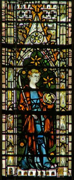 Window c6 depicting St John (stained glass)