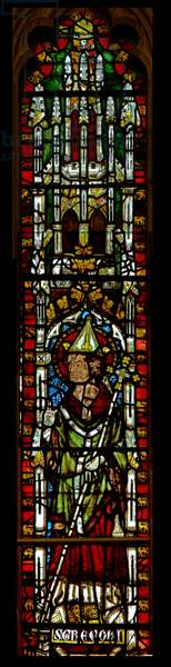 Window N3 depicting St Gregory (stained glass)