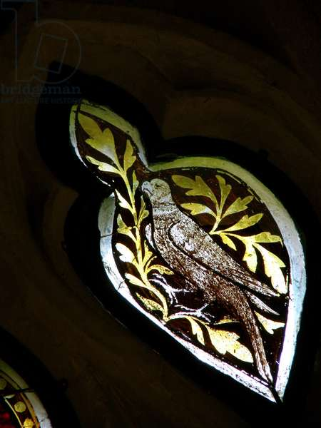 Window s4 depicting a bird (stained glass)