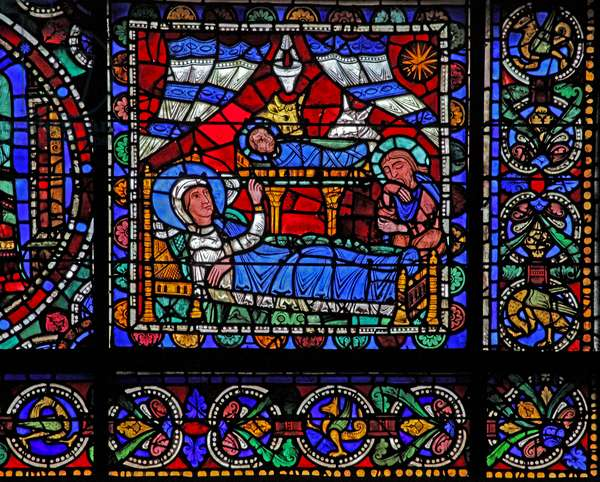 The Life of Christ window: The Nativity (w50) (stained glass)
