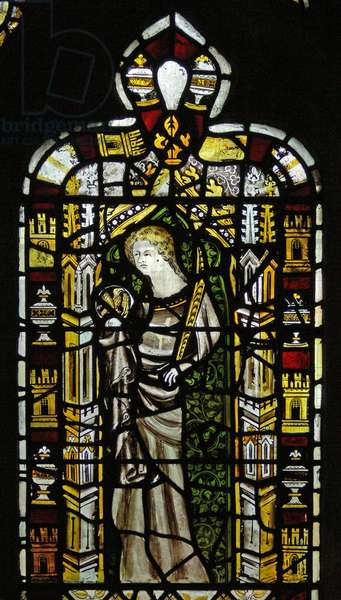 Window n2 depicting St John (stained glass)