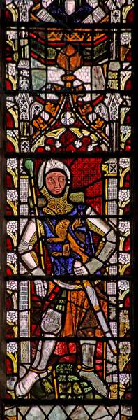 Window n4 depicting Robert Fitzroy (stained glass)