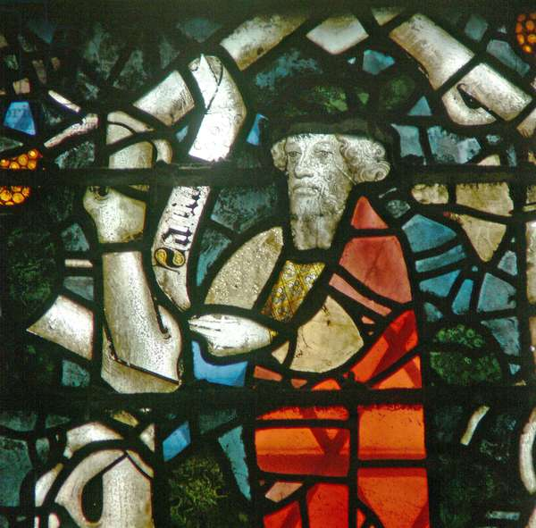 Window w16 depicting a prophet on the Tree of Jesse (stained glass)