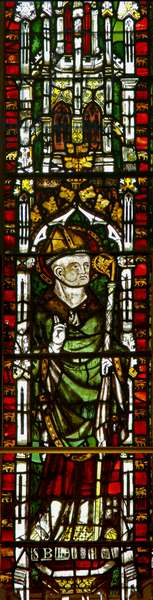 Window N2 depicting St Blaise (stained glass)