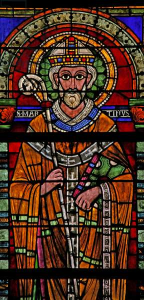 Window w109 depicting St Martin (stained glass)