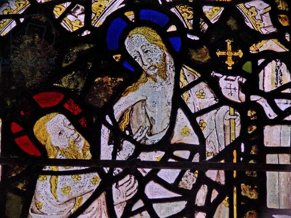Window Ww depicting the doubting St Thomas (stained glass)