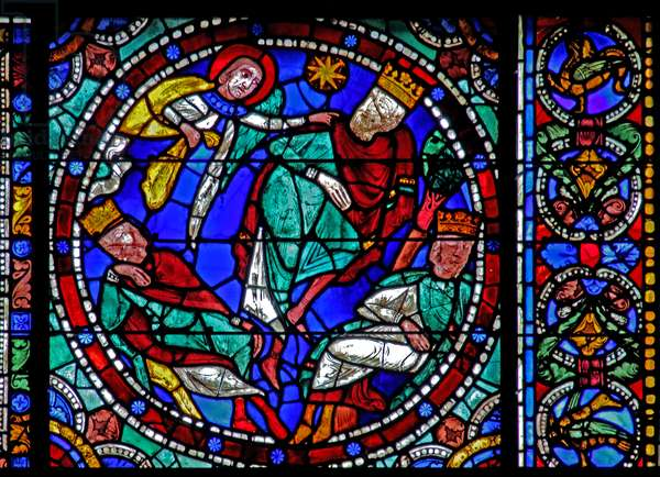 The Life of Christ window: The Magi - warned in a dream (w50) (stained glass)