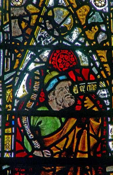 Window w3 depicting the Prophet Zechariah (Zachariah?) (stained glass)