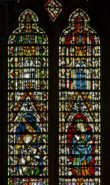 Window Ww depicting the Annunciation (stained glass)