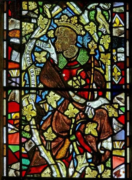 Window Ew depicting Hezekiah on the Tree of Jesse (stained glass)