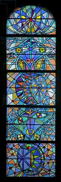 One of the Apse Windows on the South Side (stained glass)