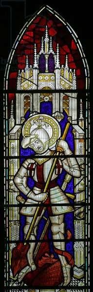 St George (Modern by David Evans) (stained glass)