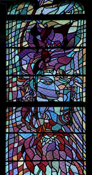Window in the North Transept evoking Orpheus and Hyacinth (stained glass)