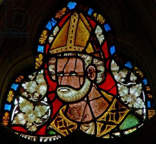 Window s-2 depicting St Julian (stained glass)