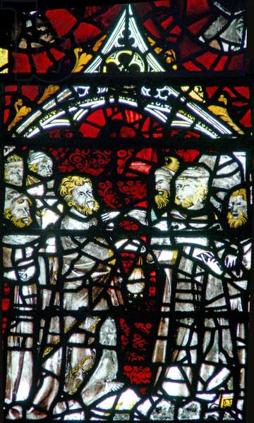 Window w3 depicting Judas receives the silver (stained glass)