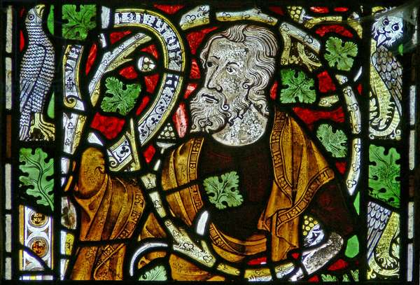 Window Ew depicting Isaiah on the Tree of Jesse (stained glass)