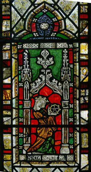 Window depicting St Catherine (stained glass)