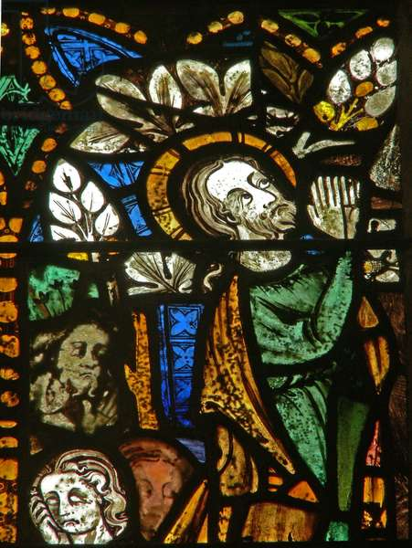 The east window depicting the Agony in the Garden (stained glass)